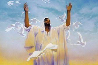Black Jesus Art - Praise - Patrick Kelly