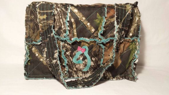 Check out this item in my Etsy shop https://www.etsy.com/listing/234218840/mossy-oak-camo-diaper-bag-large-camo-rag