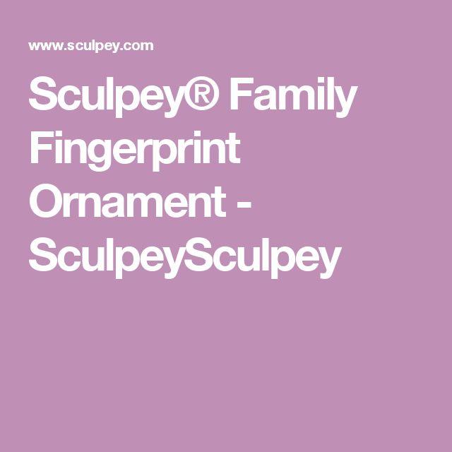 Sculpey® Family Fingerprint Ornament - SculpeySculpey