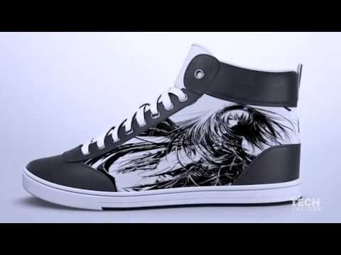 Smart shoes with animated displays - YouTube