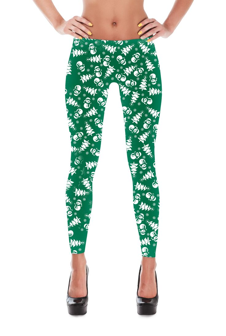 Snowman Leggings - Christmas Tree Leggings - Snowflake Leggings - Winter Leggings - Christmas Leggings - Christmas Gift