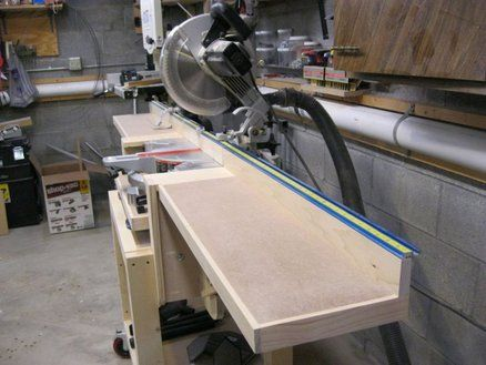 Miter Saw Station Woodworking Plan PDF - WoodWorking