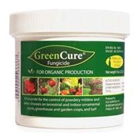 GreenCure® is a potassium bicarbonate-based fungicide that has been proven to cure and prevent powdery mildew, blackspot, downy mildew, blights, molds and other plant diseases.