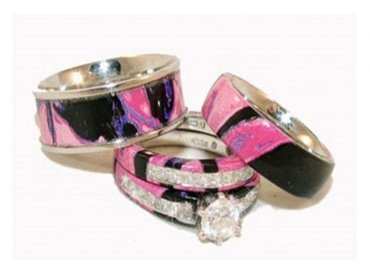 Real Diamond Camo Wedding Ring Sets
