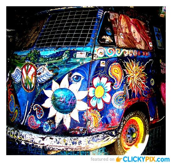 vw hippy vans tye dye addition