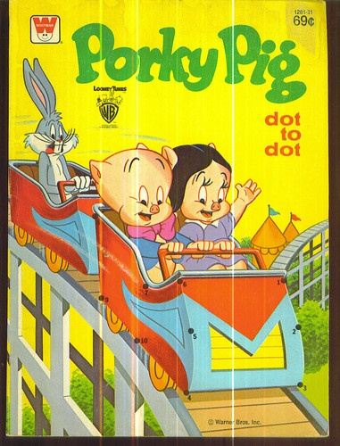 Porky Pig Dot To Coloring Book 1978