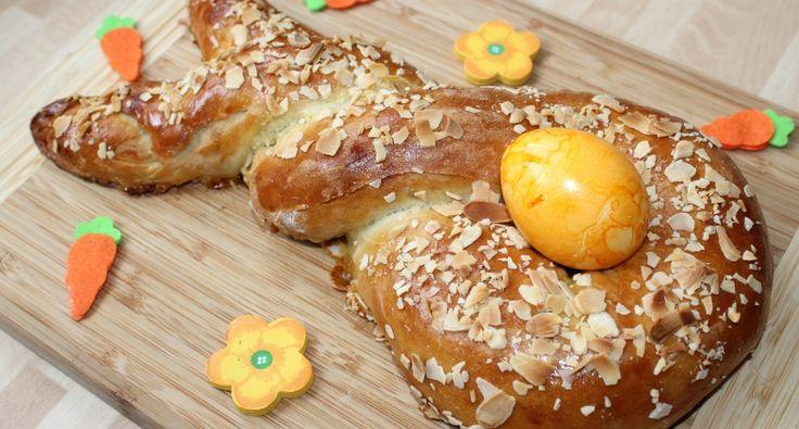Marcipános nyuszi kalács recept: A húsvéti asztal egyik szép dísze lehet ez a marcipános nyuszi kalács, ami nem csak a gyerekek egyik kedvence, hanem nagyon finom is. :)