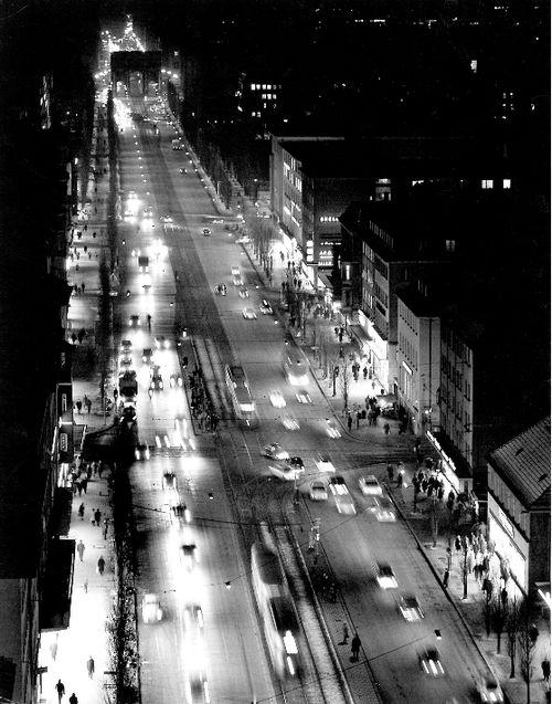 Peter Keetman - Munich, Ludwig street and Leopold street [1965]