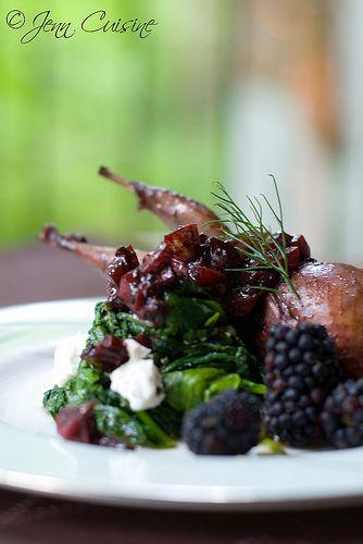 Blackberry and Balsamic Roast Quail