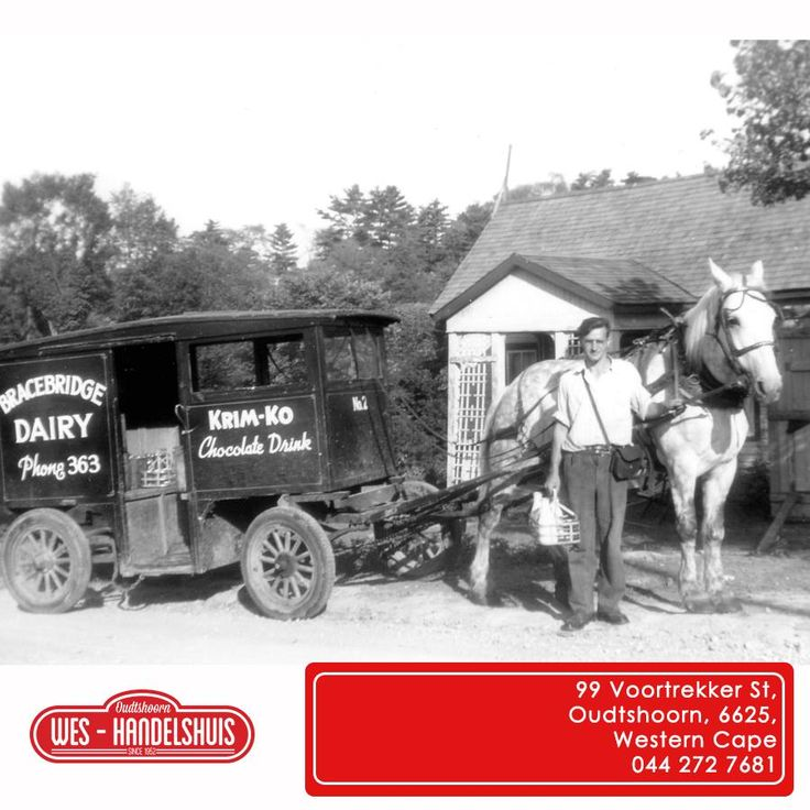 Throwback Thursday with Wes-Handelshuis brings you the memory of the good old milkman that used to deliver your milk daily to your doorstep. Who can remember the days when you woke up to your milk in a bottle on your front step? #tbt #memories #milkman