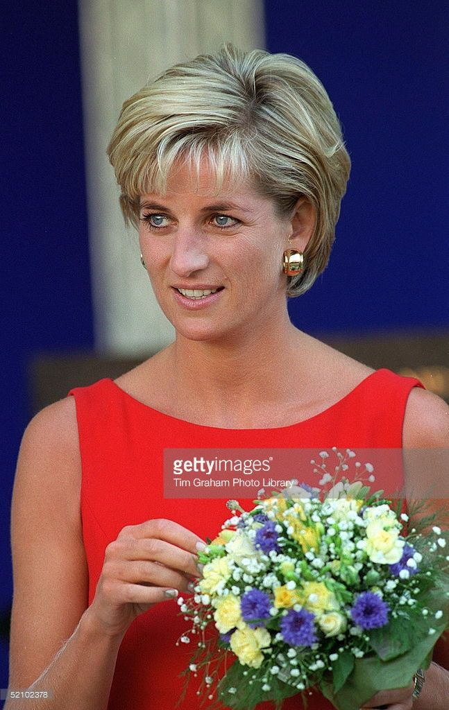 July 21, 1997: Diana, Princess of Wales during a visit to the Northwick Park Hospital in Harrow, London, where she unveiled a foundation stone for the children's casualty department.