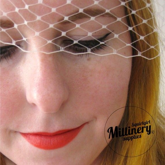 Latte Russian / French Veiling for wedding birdcage by squirlgirl, $5.00