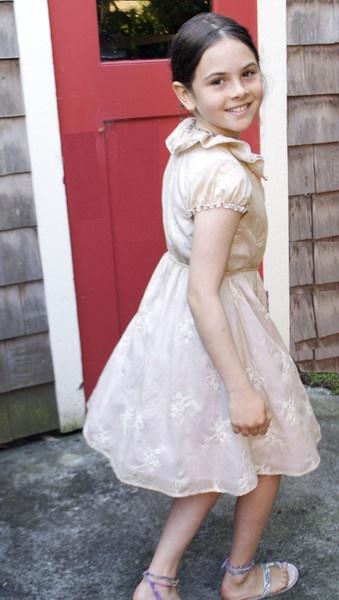 Cecelia dress, Floral Embroidery, perfect 5th grade graduation dress