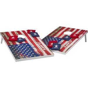 Classic-Cornhole-Set-Bean-Bag-Toss-Game-Board-Bags-Tailgate-Lawn-BBQ-Beanbag