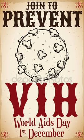 Retro Design with HIV Virus in World AIDS Day