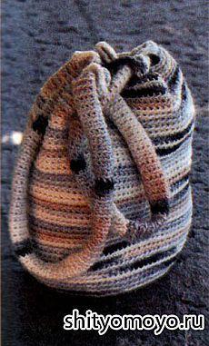 Меланжевый рюкзак, связанный крючком/Сумки. Рюкзаки. Клатчи/Вязание/Статьи / Шитье, вязание, рукоделие, бисероплетение