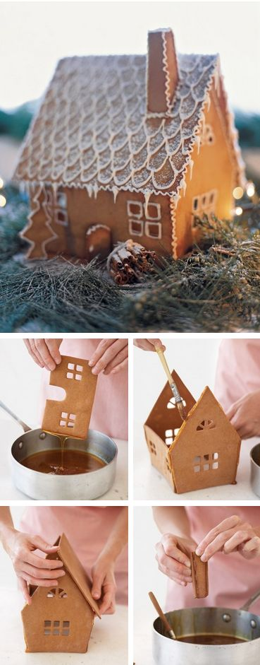 Swedish Gingerbread House Tutorial {click link for FULL tutorial}  includes templates & recipe! http://thecakebar.tumblr.com/post/69436372954/swedish-gingerbread-house-tutorial-click-link-for #martha #stewart: