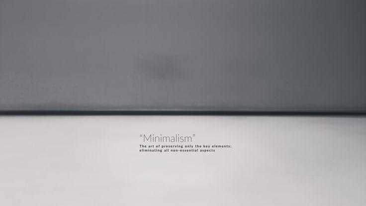 Minimalism...  The art of preserving only the key elements; eliminating all non-essential aspects  Photo by Danie Bester