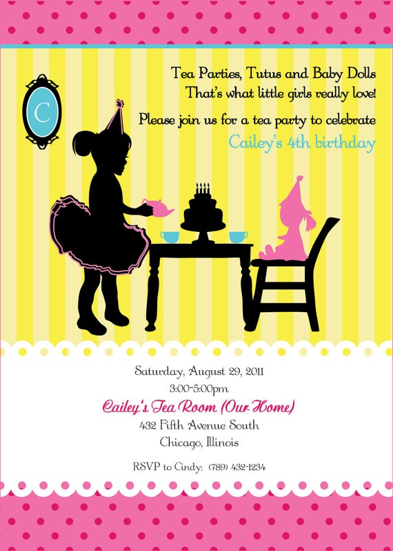 682 best images about Tea Birthday Party – Little Girl Tea Party Invitations