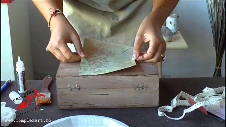 Tutorial - Tecnica SHABY (desgastado) decorar una caja