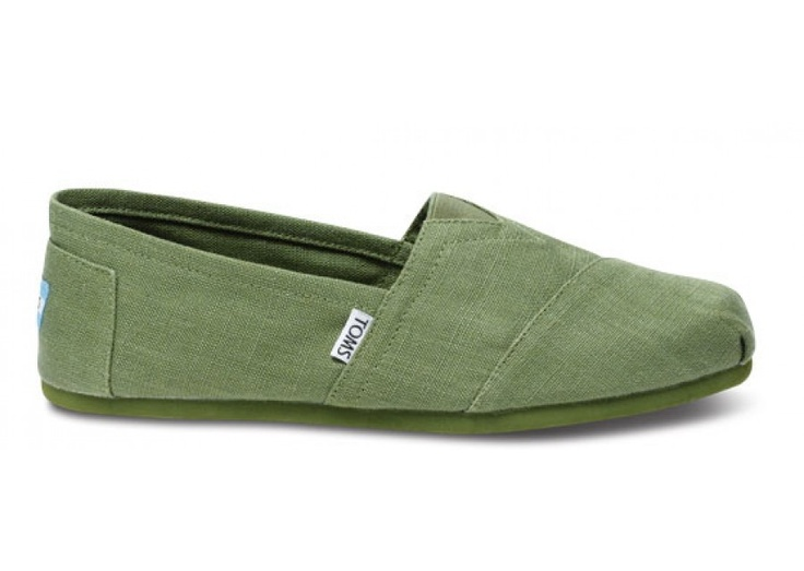 All Earthwise Classics are constructed with a blend of natural hemp and recycled polyester, including the padded insole! TOMS for sustainability: all