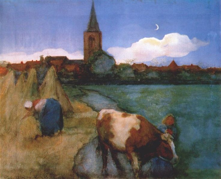 View of Winterswijk (watercolor, 1898-1899) - Piet Mondrian, Private Collection