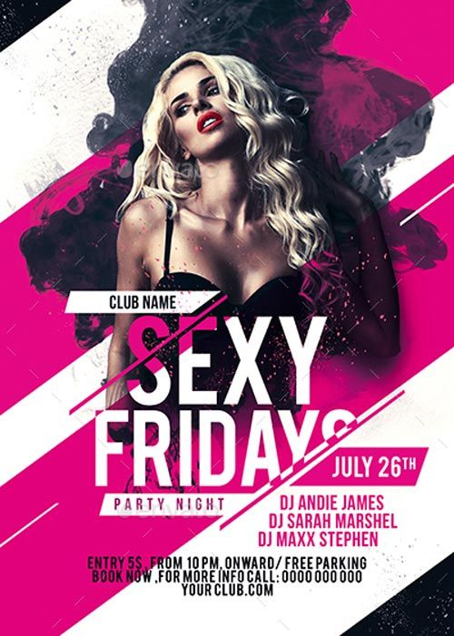 526 best Club and Party Flyer images on Pinterest Flyer design - party flyer