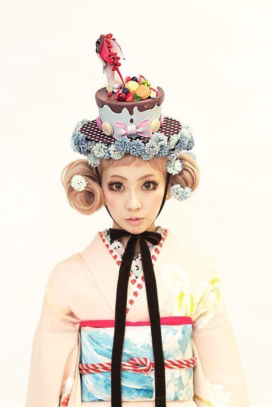 氣仙えりかさまのフェイクスイーツファッションショー。 の画像|ダリヘアデザイン 高島の靭公園から徒然と