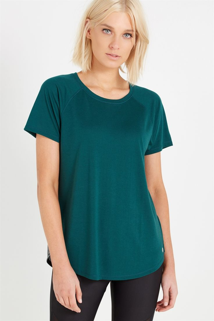 <br /><br /> • Standard length body <br /> • Comfortable relaxed fit<br /> • Raglan style sleeve shape<br /> • Rounded neckline<br /> • Mesh panelling<br /> • Reflective detail aids visibilty in low light conditions<br /><br />  MODEL WEARS SIZE: SMALL - AU 10  | US 6  | EUR 38<br /> BODY: 70% POLYESTER, 30% VOSCOSE</br> PANEL: 88% POLYESTER, 12% METALLIC</br><...