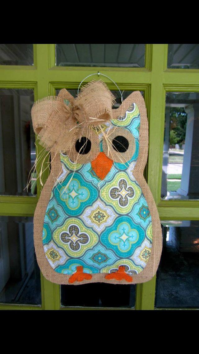 Owl door hanger @Beth Nativ Nativ Nativ Rubin Jean Toler Nixon