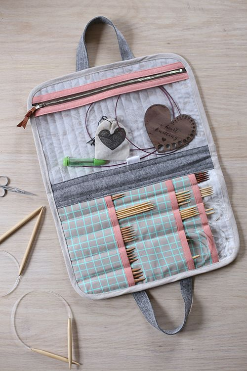 Interchangeable Knitting Needle Case Sewing Pattern : 25+ best ideas about Knitting needle case on Pinterest Interchangeable knit...