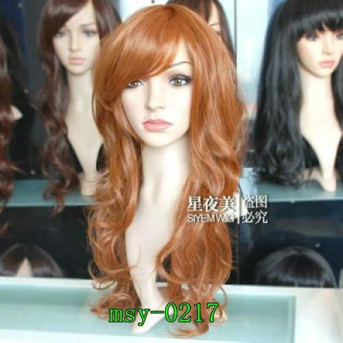 Elegant Long Blond Wavy Cosplay Girl Hair Full Wig Wigs Birthday Gift M062 | eBay