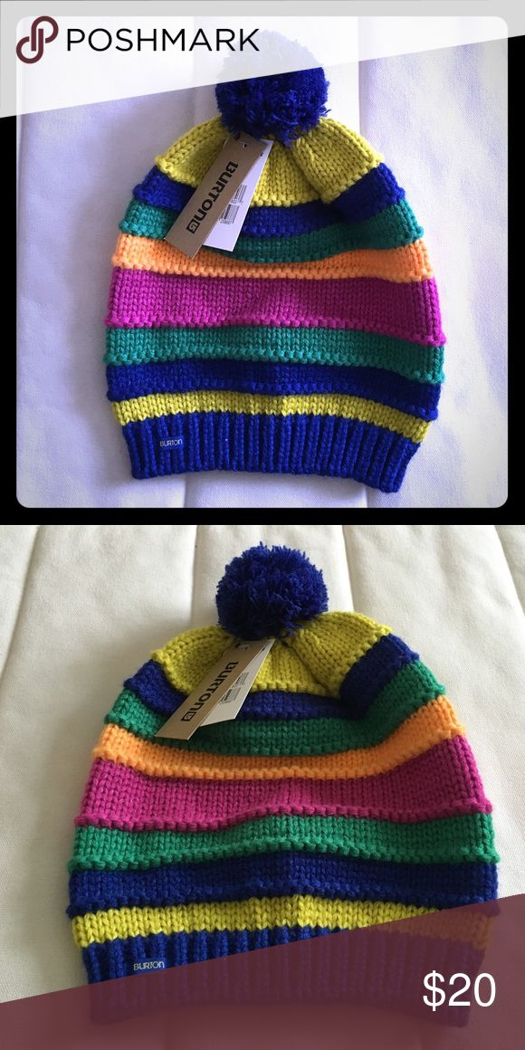 Burton Ski / Snowboard Knit Beanie OS Up for sale is Burton Ski / Snowboard Knit Candy Stripe Beanie as shown on the pictures. Color: multi. Size: one size. New with tags. Perfect condition. No tears, holes or stains. Burton Accessories Hats