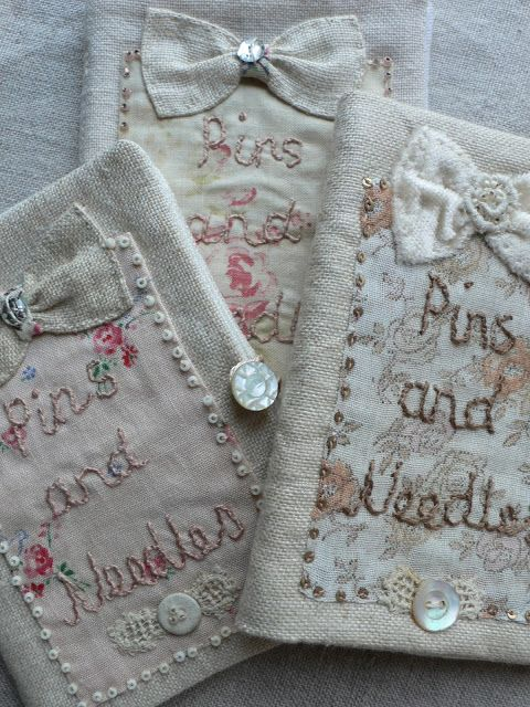 Needlebooks by Gentlework very inspirational site! She makes great use of vintage linens