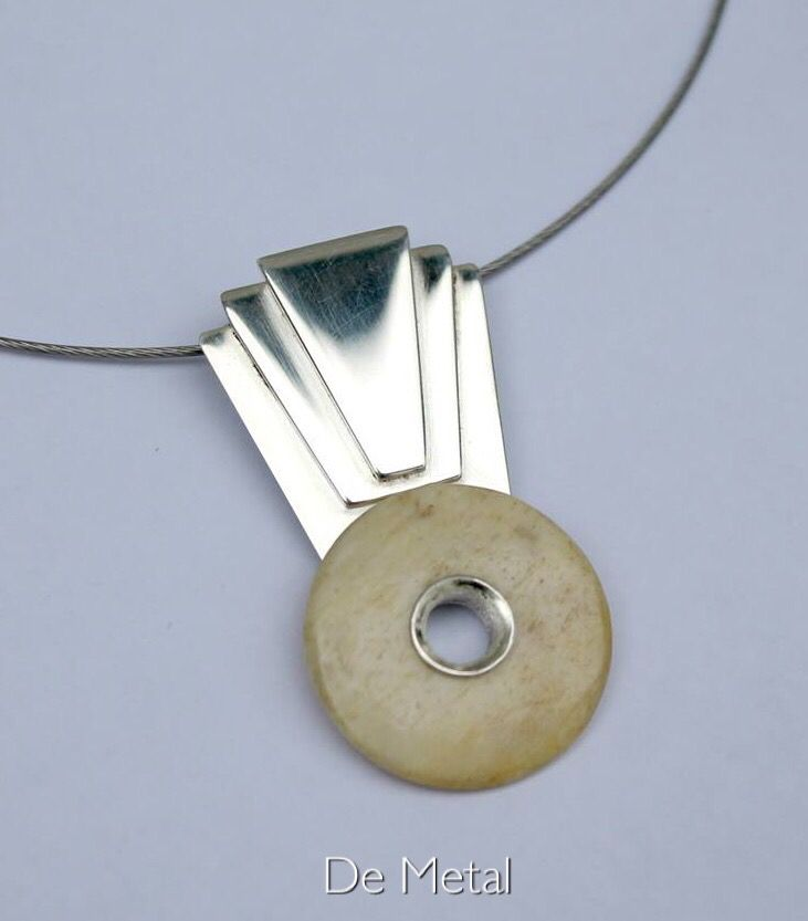 Silver and bone ..... (Contemporary jewelry author )