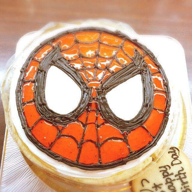 もぅおメメが閉じていくぅ(๑¯ ³¯๑) #miyakojima#宮古島#montedoll#モンテドール#宮古島のケーキ屋さん#お誕生日ケーキ#キャラクターケーキ#キャラデコ#イラストケーキ#スパイダーマン#USJが沖縄にできますように