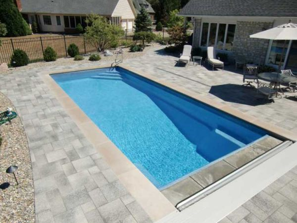 Stamped Concrete Pool Deck Photos Indianapolis Swimming