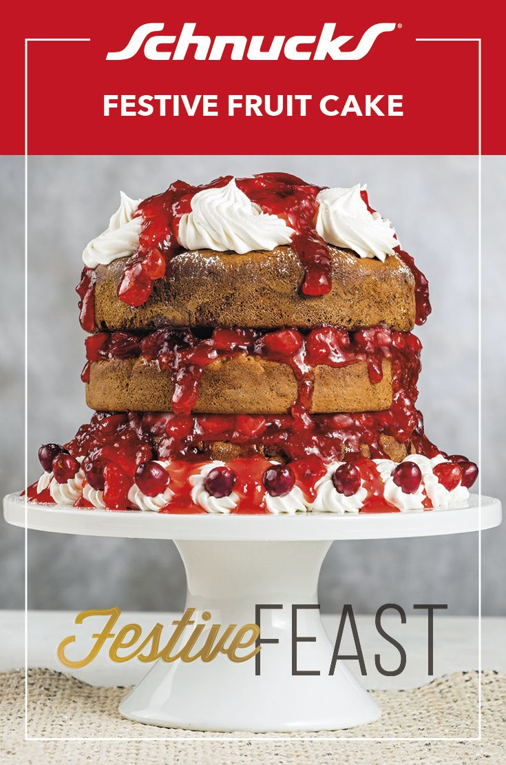 Not Your Grandma S Fruit Cake Nope It S Not Your Typical Fruit Cake But It S Festive And Packed With Flavor Top It With Whip C Cake Festive Fruit Fruit Cake