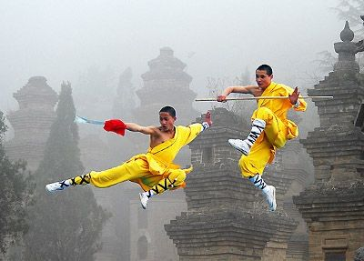 Shaolin Quan (Shaolin Kung Fu) is probably the most famous of the Chinese kung fu families. Its name comes from the Shaolin Temple in Dengfeng in Zhengzhou Province. Shaolin Kung Fu blends a number of styles from all over China, having been a melting pot of Chinese martial arts throughout the ages. Shaolin Kung Fu enjoys a huge reputation both within China and around the world as being, blending combat ability, qigong (chi kung), Buddhism, acrobatics and a huge history into a kung fu style.