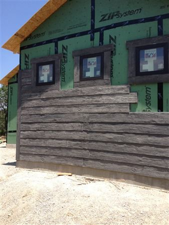 25 best ideas about faux stone siding on pinterest for Faux wood siding