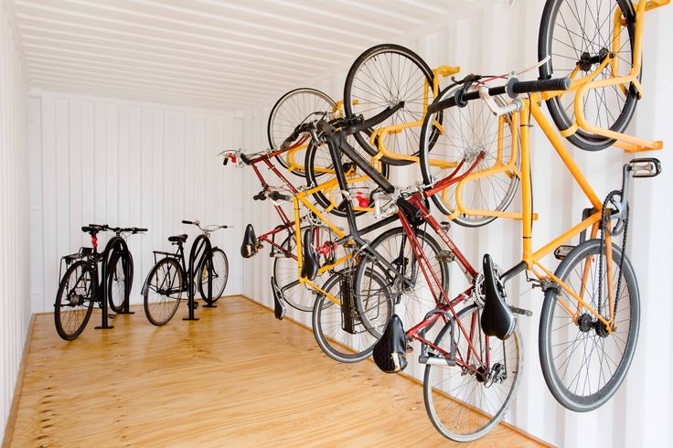 PUSHBIKE CONTAINER - A secure bike parking facility made from retrofitted shipping containers #pushbike #makecyclingeasy #cycling #endoftrip