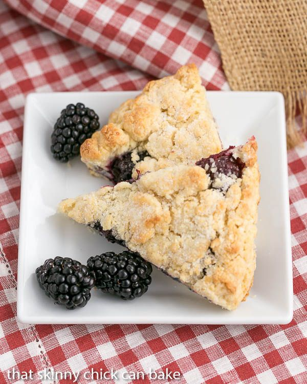 Blackberry Scones | Moist, scrumptious and packed full of berries