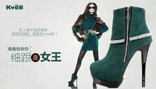 Sexy Winter gefutterte Plateau Stiefel Stiefelette mit Strass Ankle Boots Pumps High Heels rote Sohle Stiletto
