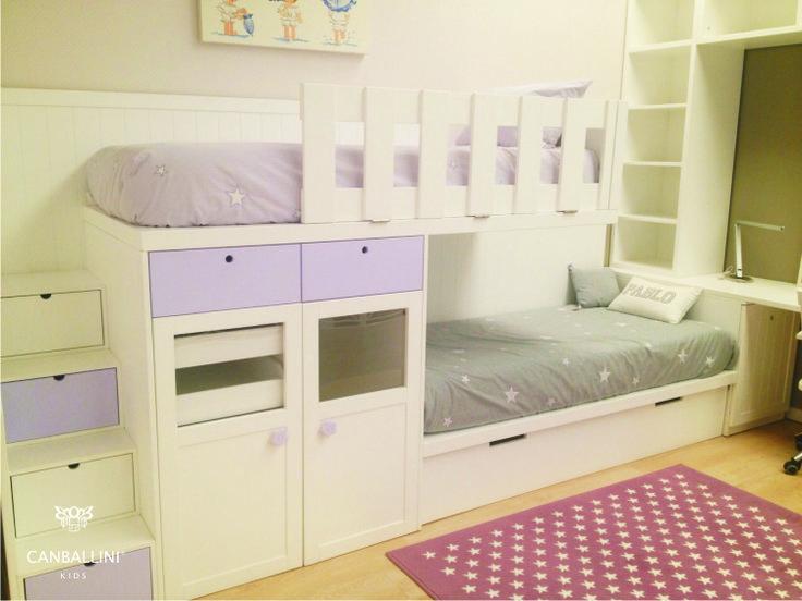 136 best literas images on pinterest nursery babies - Literas tipo tren medidas ...