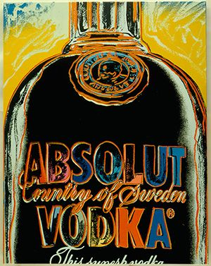 The Ghost of Andy Warhol Returns to Flog Absolut Vodka | StockLogos.com #packaging