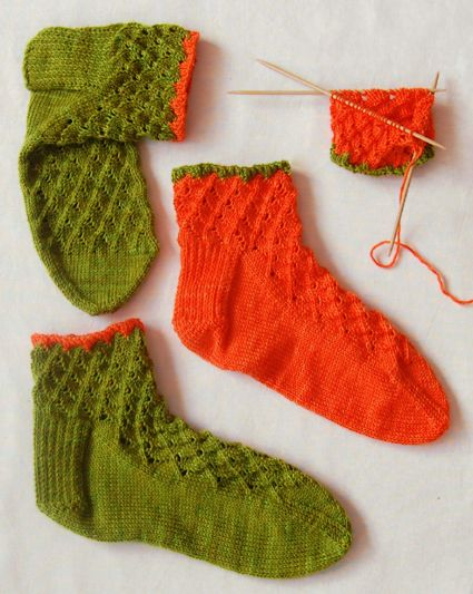 Whit's Knits: Lace Anklets - The Purl Bee - Knitting Crochet Sewing Embroidery Crafts Patterns and Ideas!