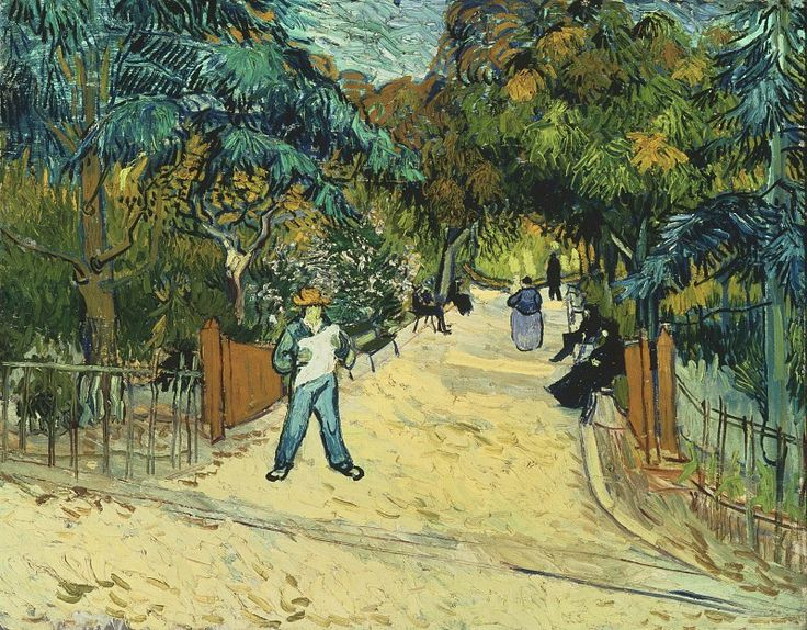 Van Gogh, Entrance to the Public Garden in Arles. This was my favorite when I worked at the Phillips Collection