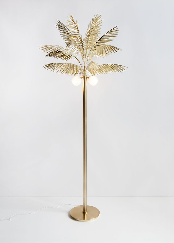 Syrette Lew of Moving Mountains's Palmyra palm tree lamp. via @sightunseen
