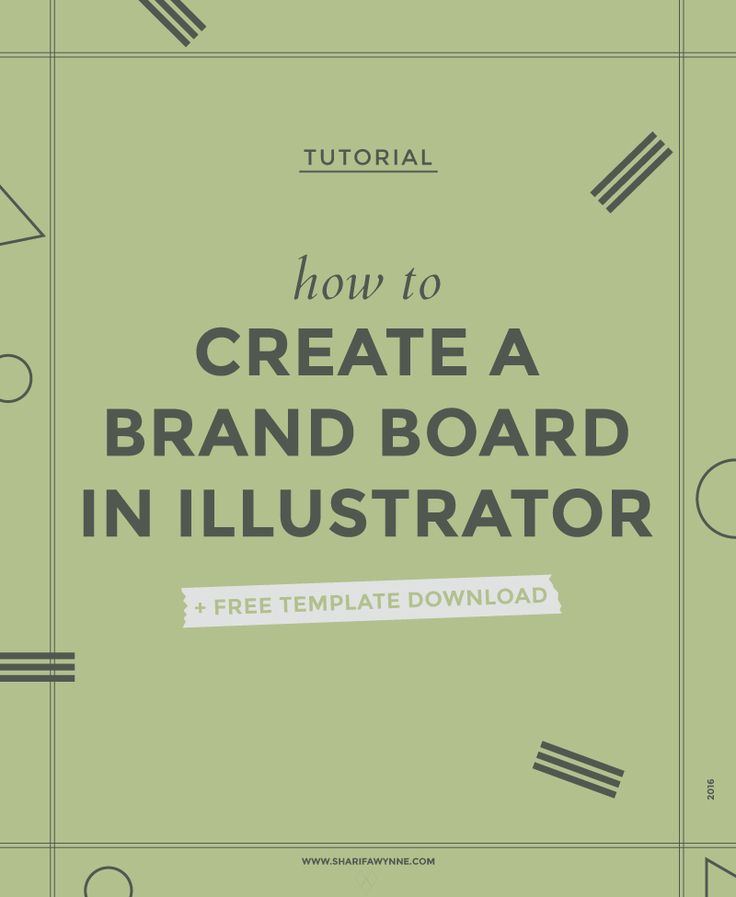 how to create a mood board in illustrator