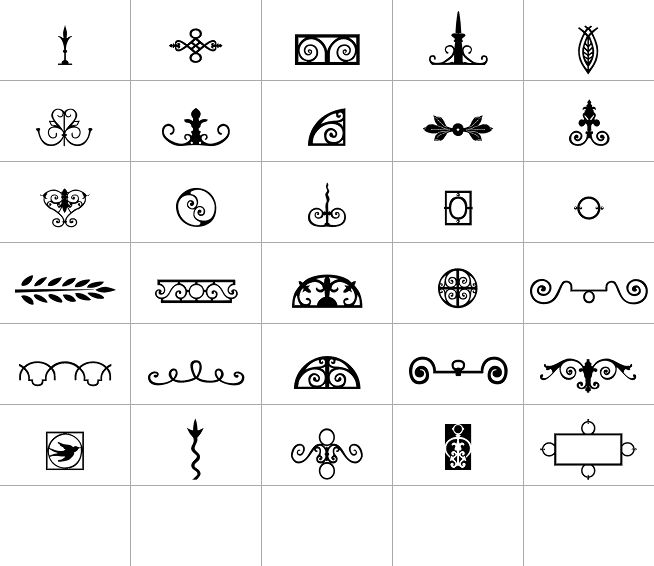 56 Best Deco Element Fonts Images On Pinterest